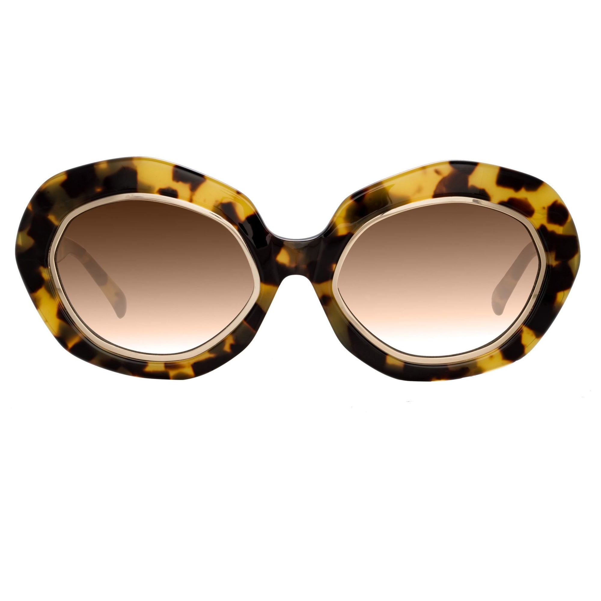 Erdem Women Sunglasses Oversized Tortoise Shell Gold with Brown Graduated Lenses EDM33C4SUN - Watches & Crystals