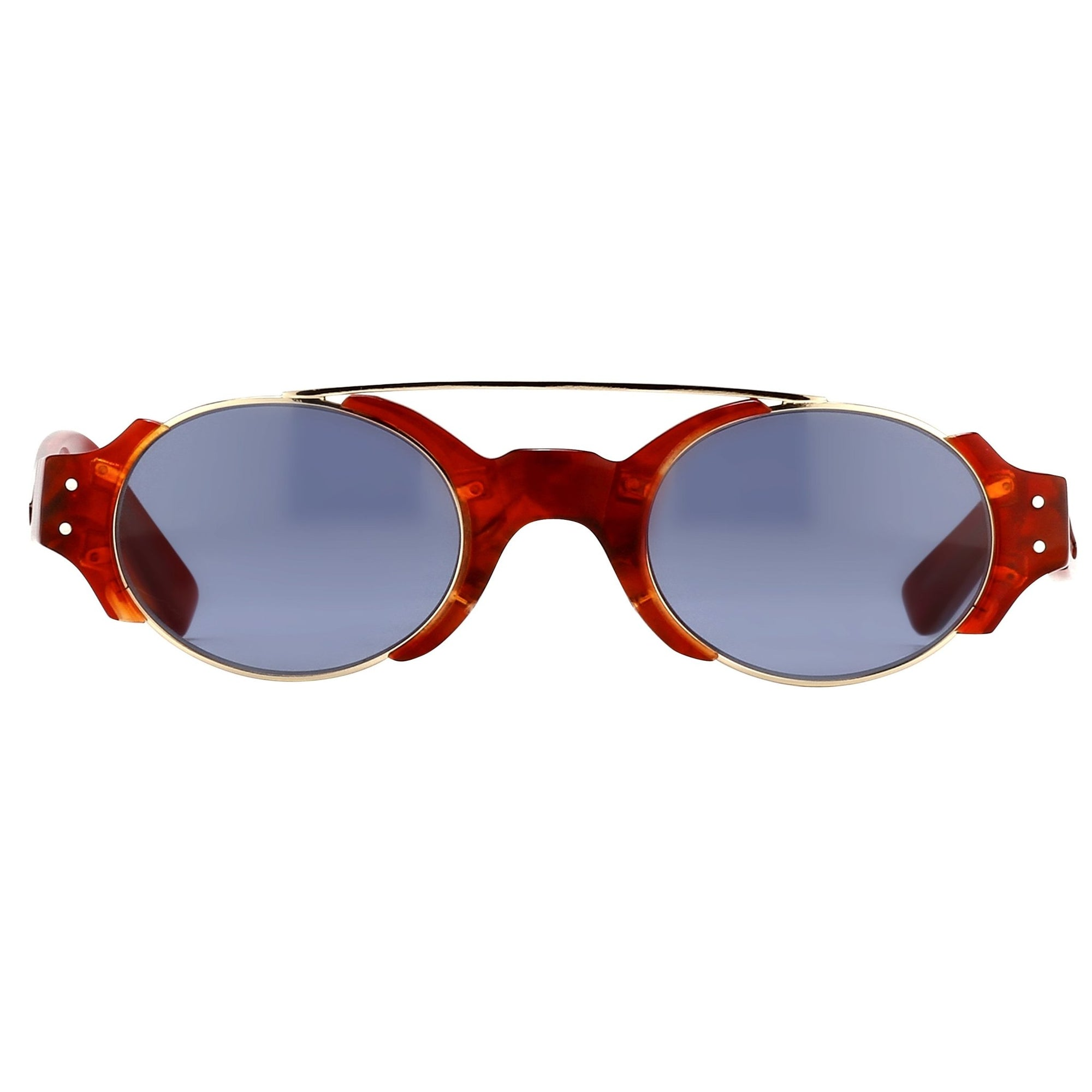 Erdem Women Sunglasses Red Marble Light Gold with Blue Lenses Category 3 EDM8C4SUN - Watches & Crystals