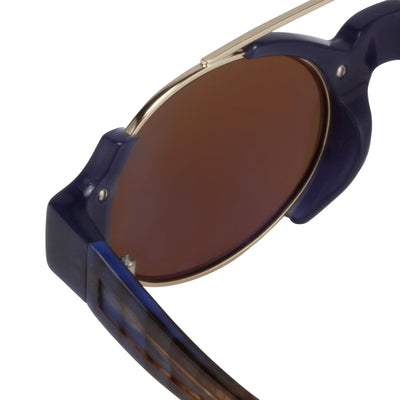 Erdem Women Sunglasses Royal Blue Light Gold with Brown Lenses EDM8C3SUN - Watches & Crystals
