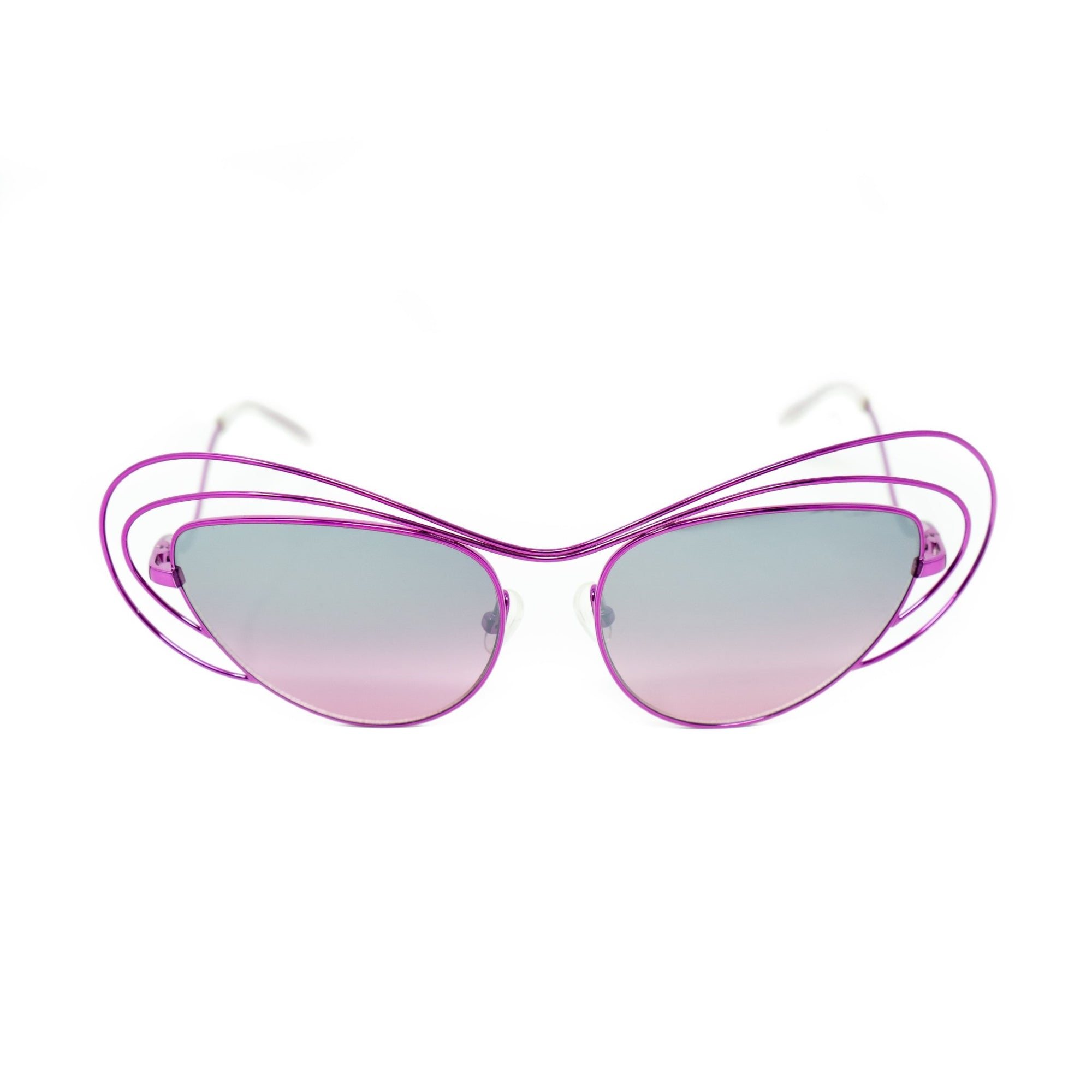 Erdem Women Sunglasses Special Frame Purple with Pink/Grey Graduated Mirrored Lenses Category 3 - EDM2C1SUN - Watches & Crystals