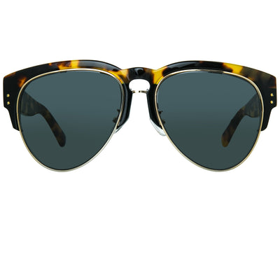 Erdem Women Sunglasses Tortoise Shell Black Light Gold with Grey Lenses Category 3 EDM25C4SUN - Watches & Crystals