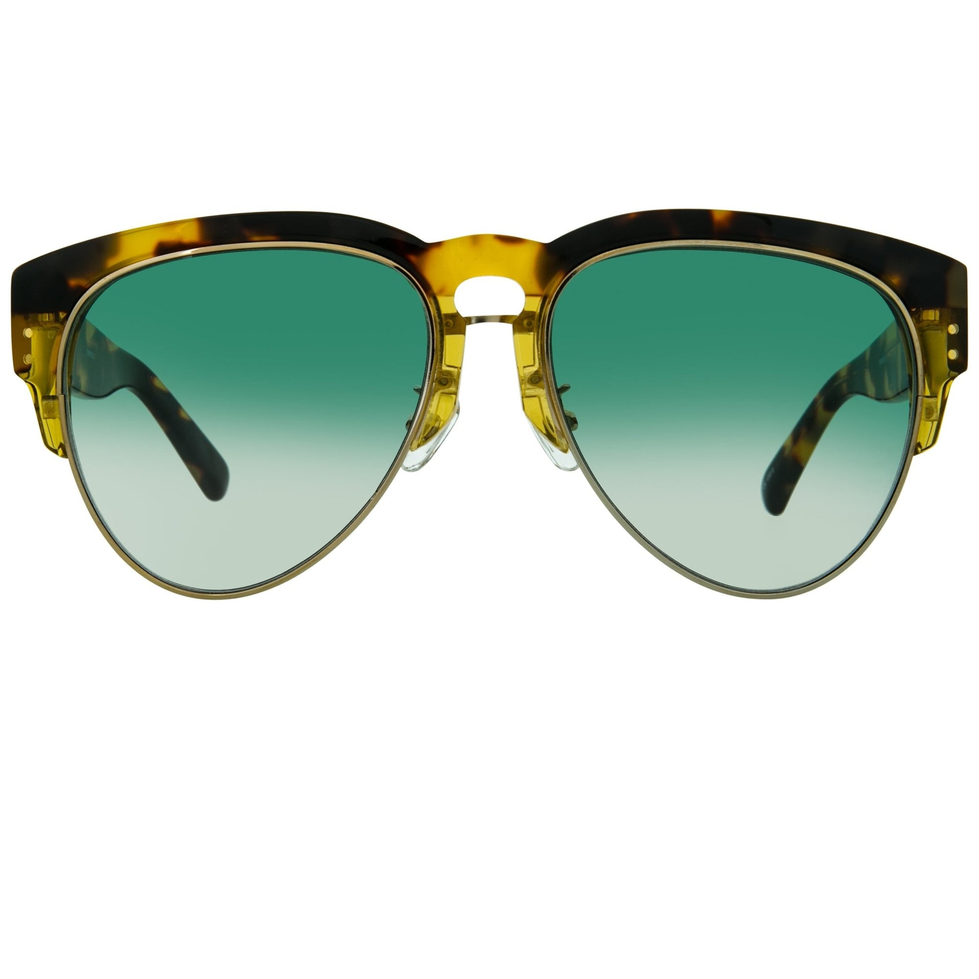 Erdem Women Sunglasses Tortoise Shell Light Gold with Green Graduated Lenses EDM25C2SUN - Watches & Crystals