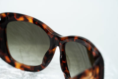 Erickson Beamon Sunglasses Oversized Tortoise Shell Gold With Grey Lenses 8EB2C2T/SHELL - Watches & Crystals