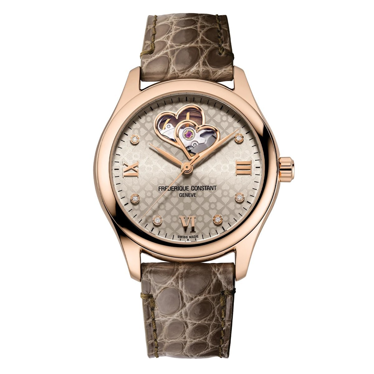 Frederique Constant Ladies Double Heart Beat Watch - Watches & Crystals