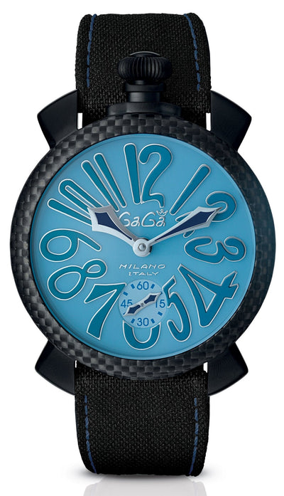 GaGà Milano Carbon Manuale 48MM Blue Limited Edition - Watches & Crystals