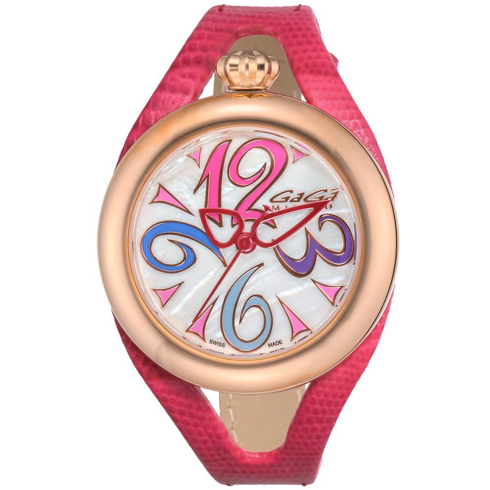 GaGa Milano Flat 42 Ladies Watch Rose Gold - Watches & Crystals