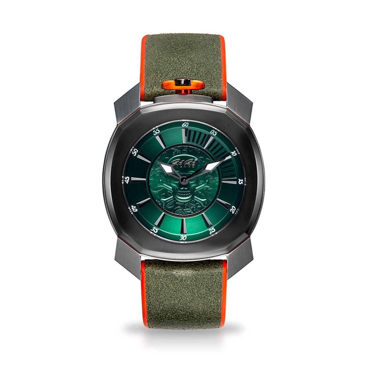 Gaga Milano Frame_One Skull Green - Watches & Crystals