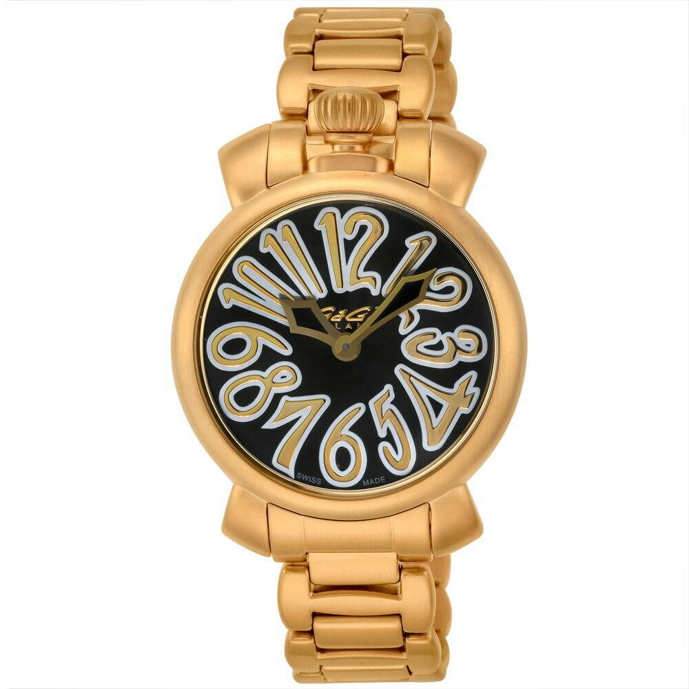 GaGà Milano Manuale 35mm Yellow Gold Black - Watches & Crystals