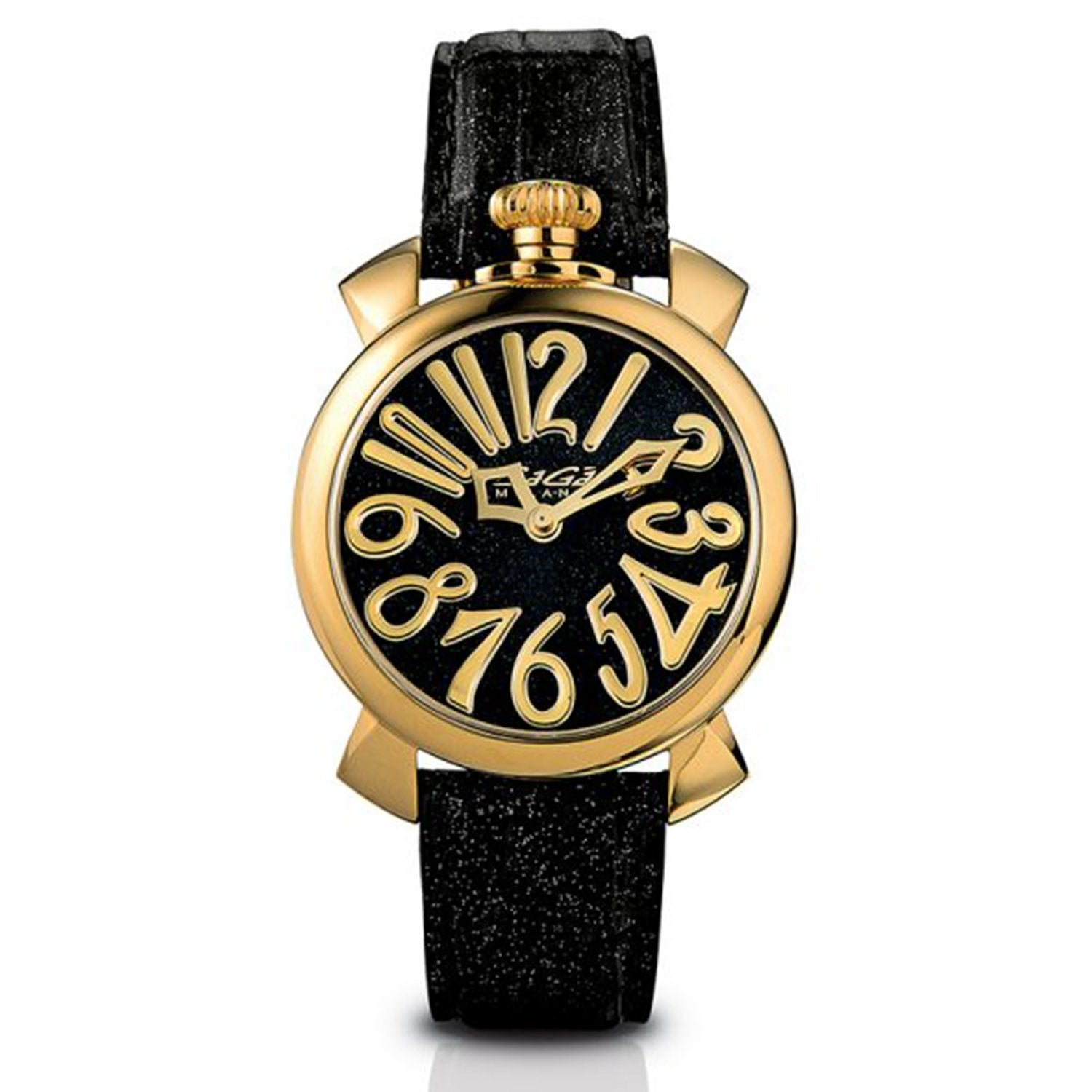 GaGà Milano Manuale 40MM Ladies Watch Black Glitter - Watches & Crystals
