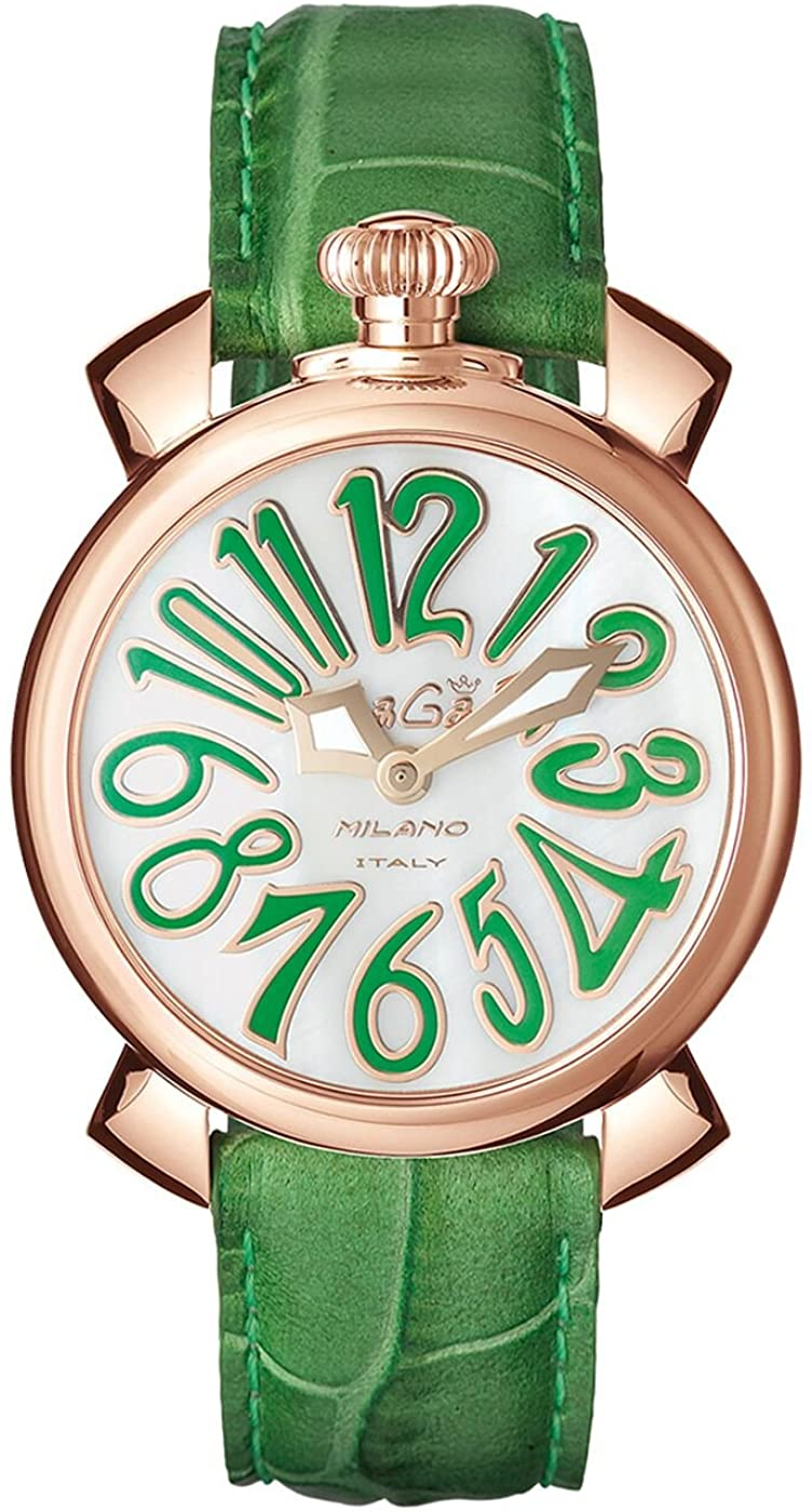 GaGà Milano Manuale 40MM Ladies Watch Rose Gold Green - Watches & Crystals