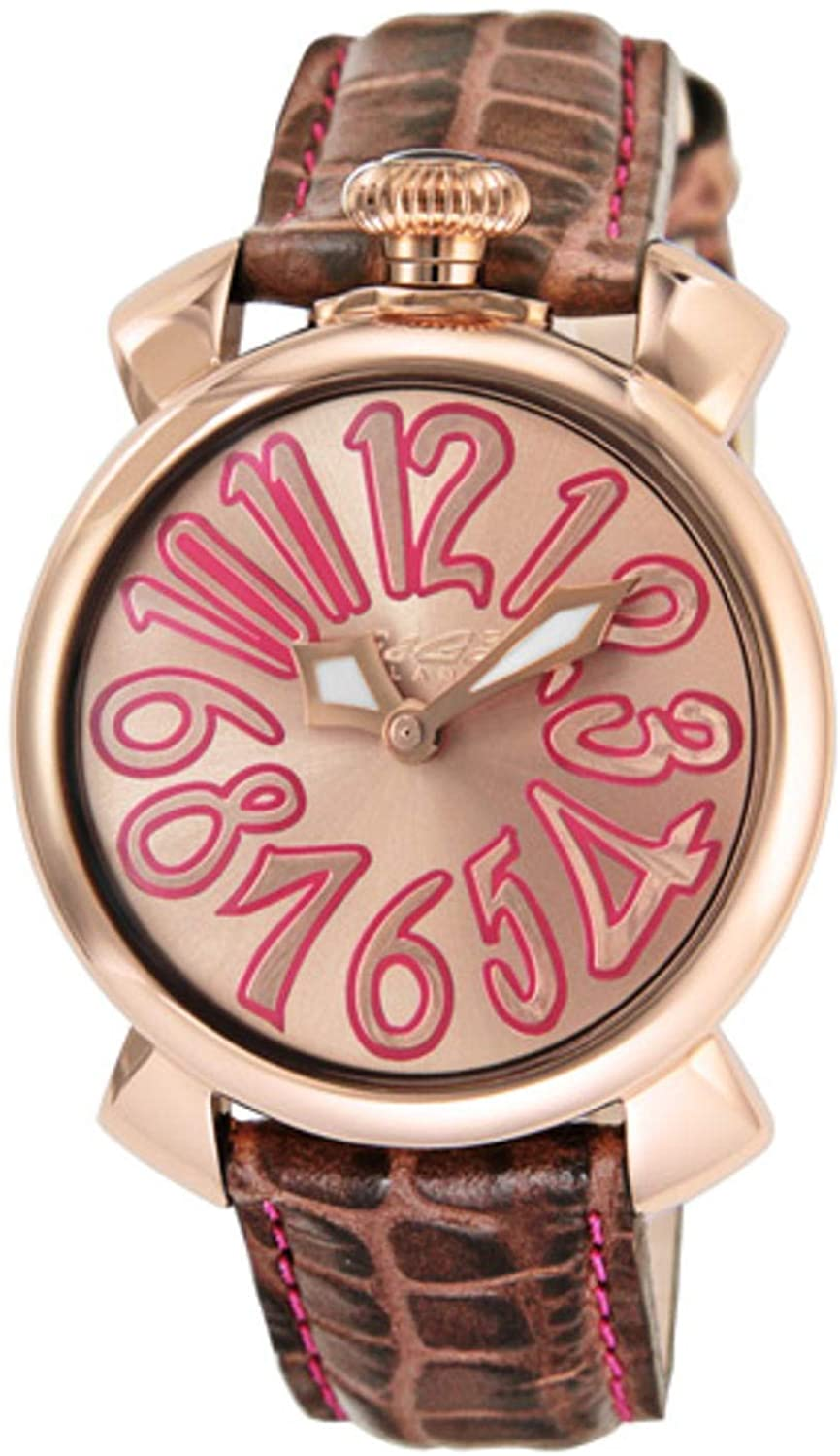 GaGà Milano Manuale 40MM Ladies Watch Rose Gold Pink - Watches & Crystals