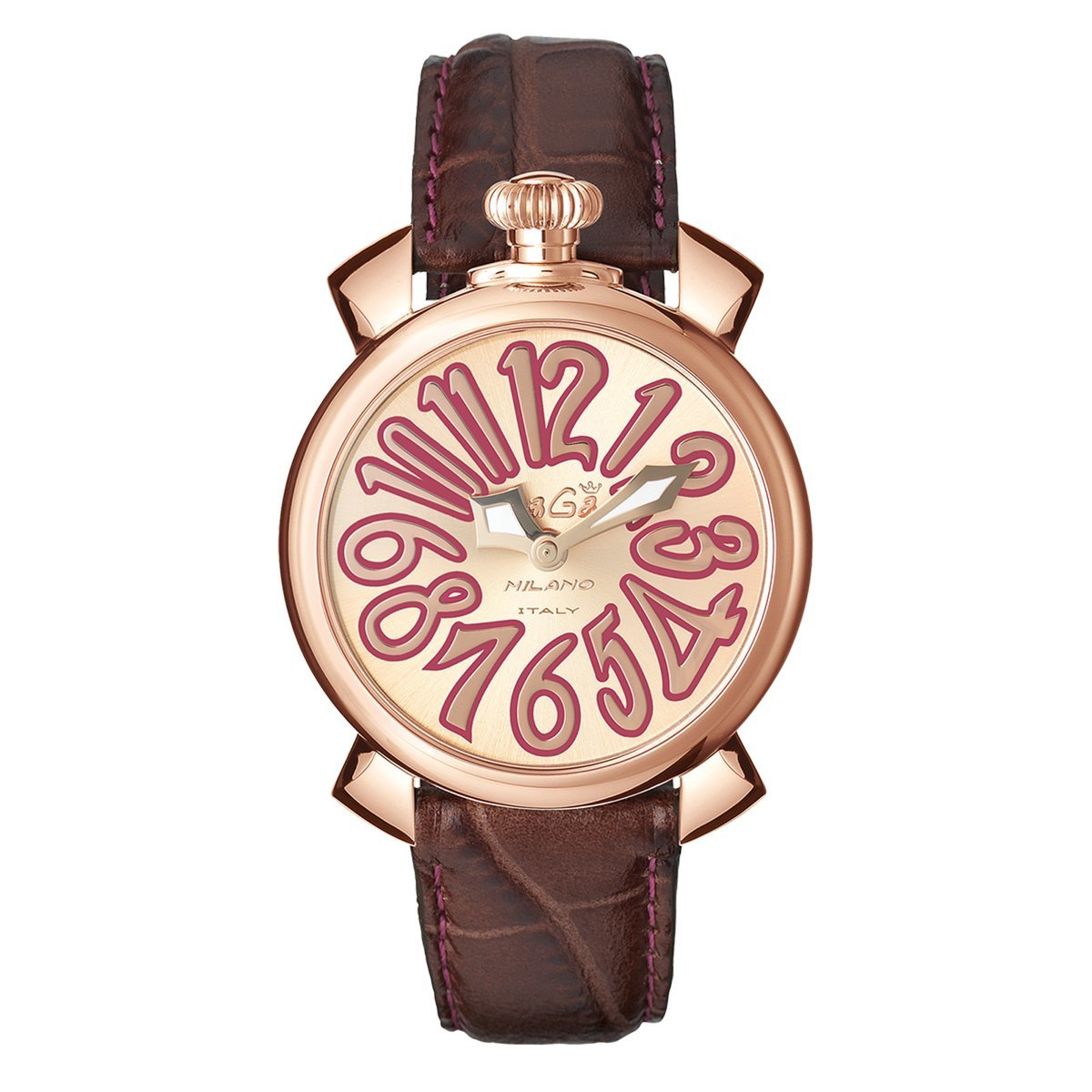 GaGà Milano Manuale 40MM Rose Gold Brown - Watches & Crystals