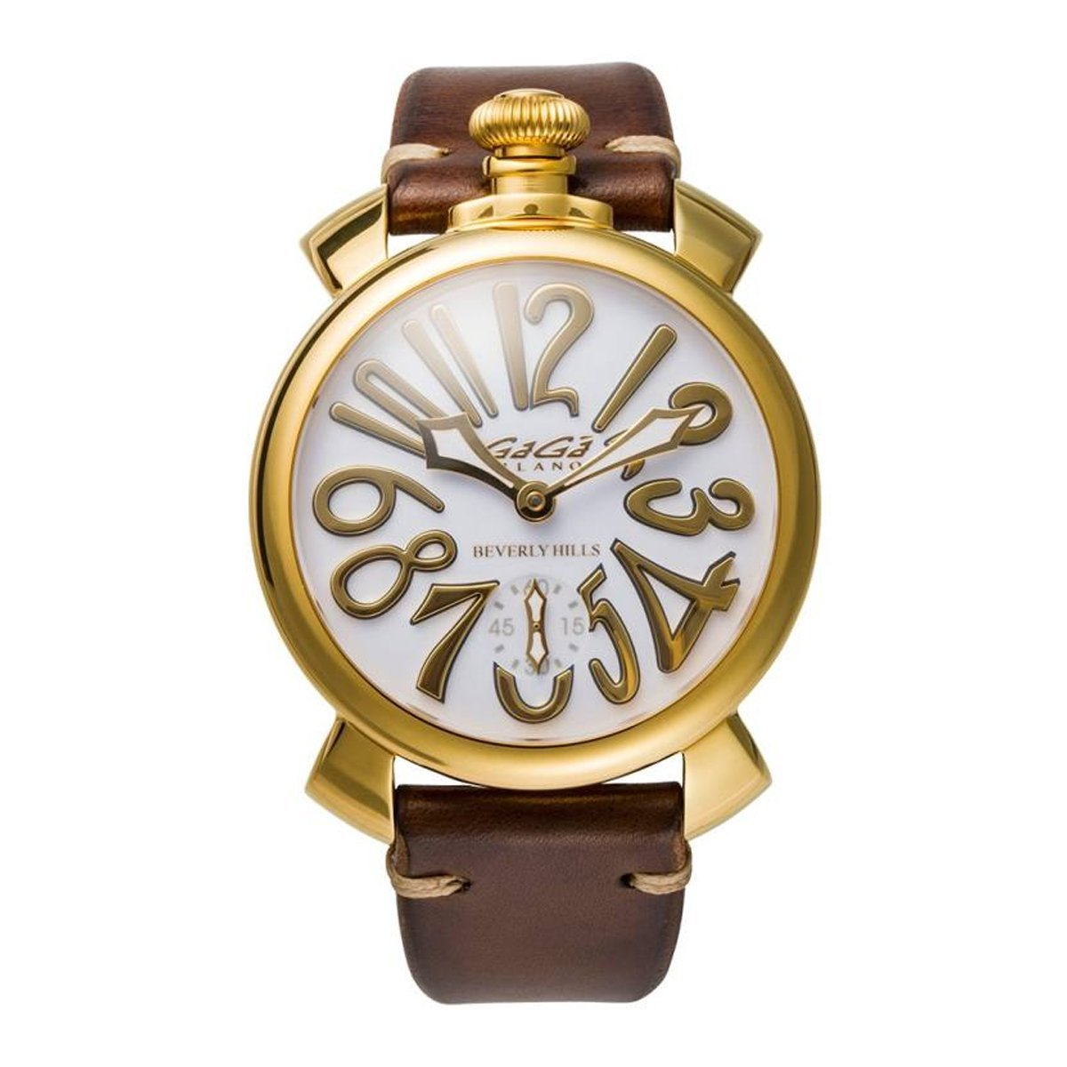 GaGà Milano Manuale 48 Gold Enamel Limited Edition - Watches & Crystals