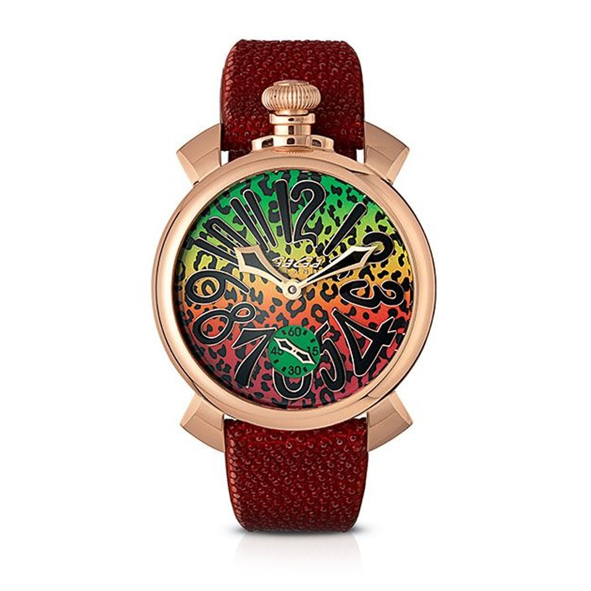 GaGà Milano Manuale 48MM Art Red - Watches & Crystals