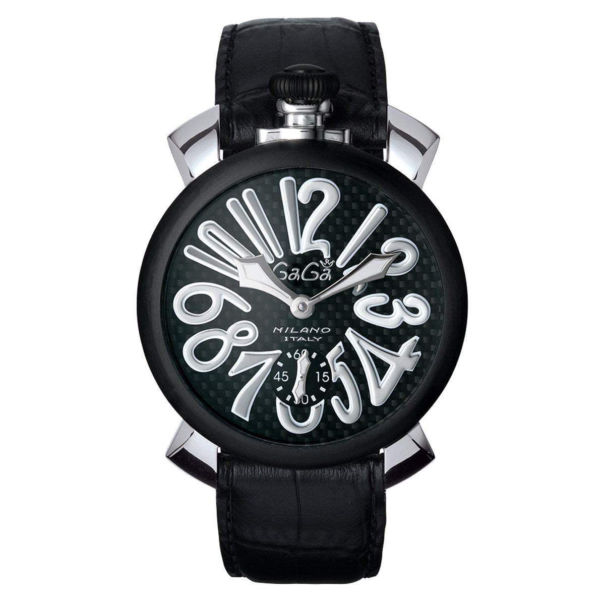 GaGà Milano Manuale 48MM Black Carbon - Watches & Crystals