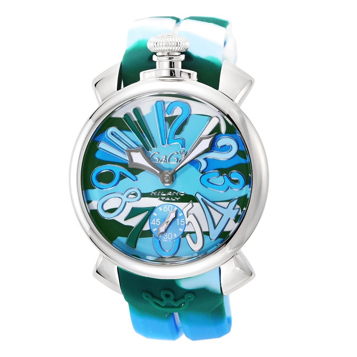 GaGà Milano Manuale 48MM Blue Camo - Watches & Crystals