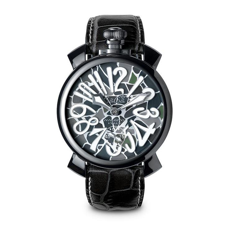 GaGà Milano Manuale 48MM Mosaico Black PVD - Watches & Crystals