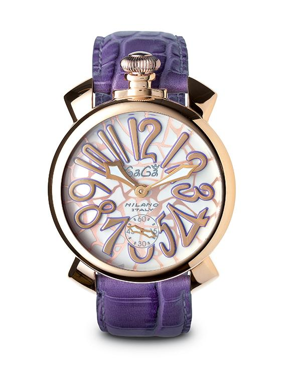 GaGà Milano Manuale 48MM Mosaico Purple Rose Gold - Watches & Crystals