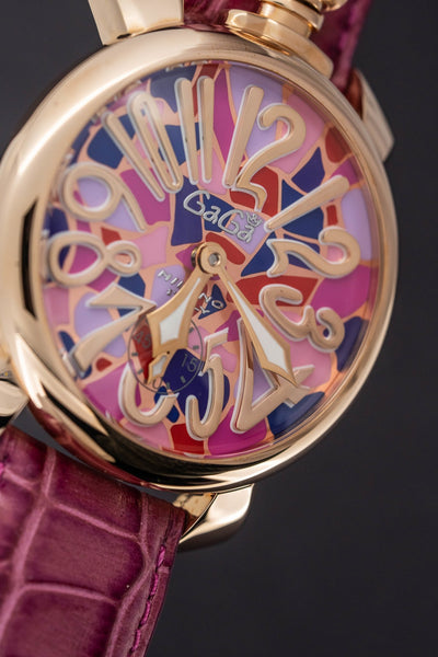 GaGà Milano Manuale 48MM Mosaico Rose Gold - Watches & Crystals