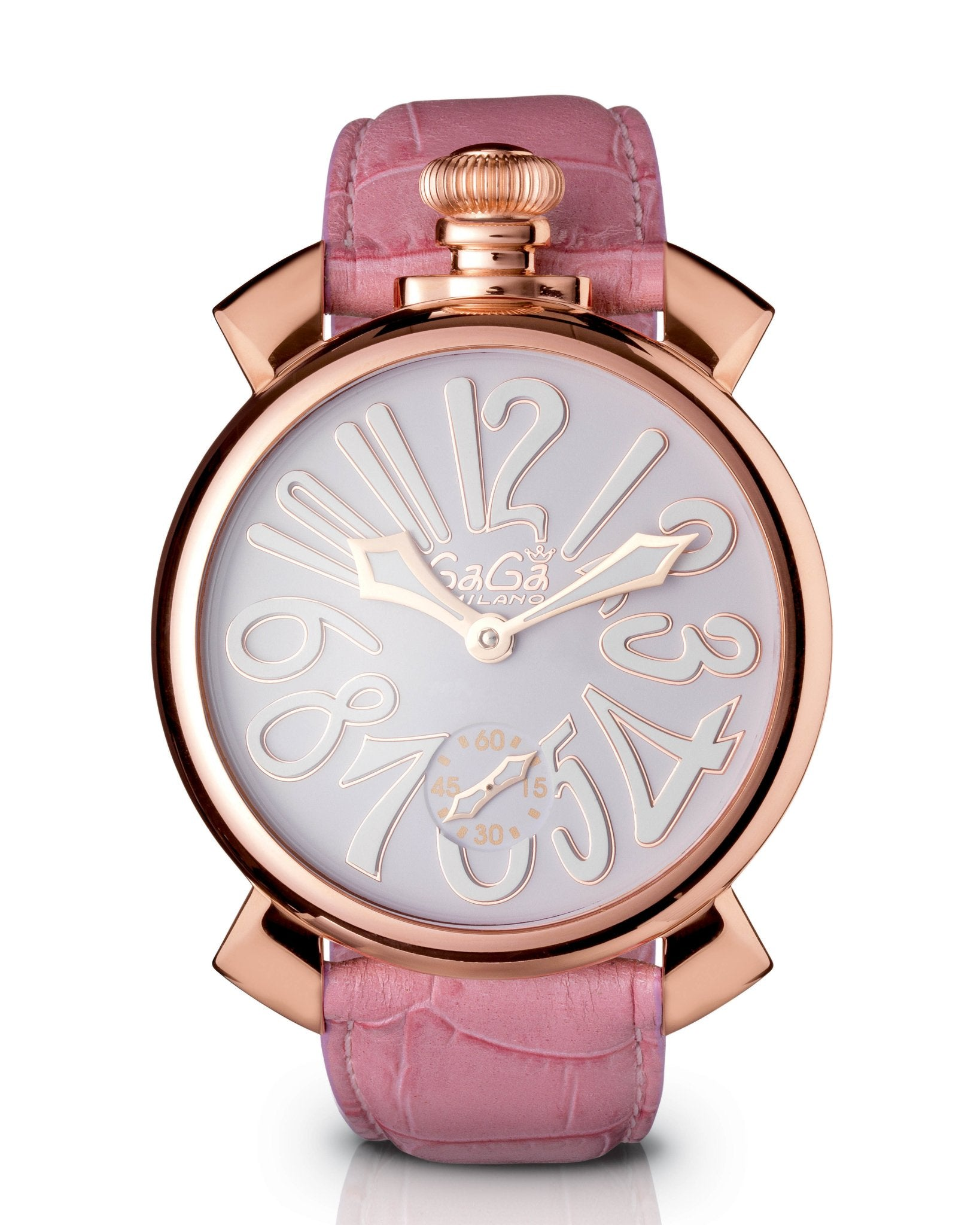 GaGà Milano Manuale 48MM Pink Rose Gold - Watches & Crystals
