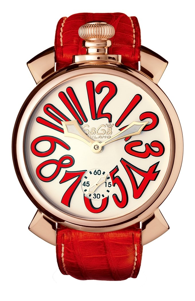 GaGà Milano Manuale 48MM Red Rose Gold - Watches & Crystals