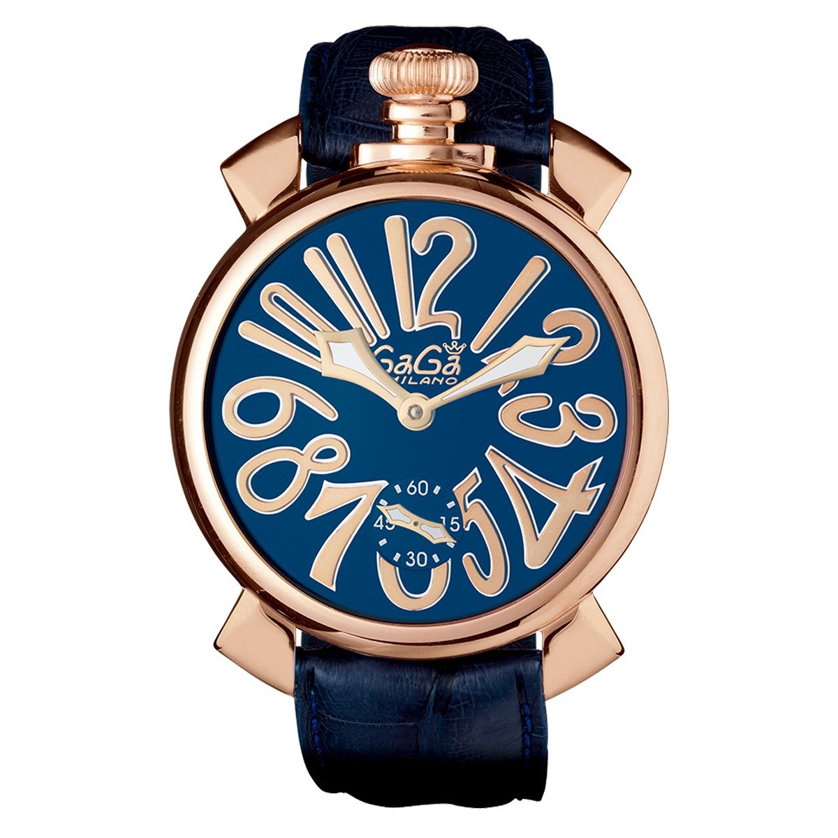 GaGà Milano Manuale 48MM Rose Gold Blue - Watches & Crystals
