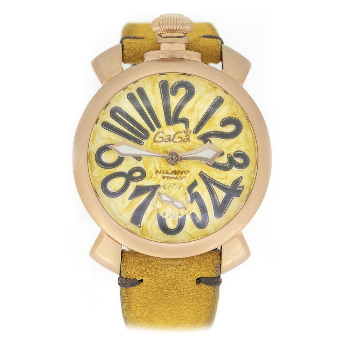 GaGà Milano Manuale 48MM Vintage Yellow - Watches & Crystals