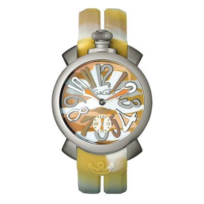 GaGà Milano Manuale 48MM Yellow Camo - Watches & Crystals