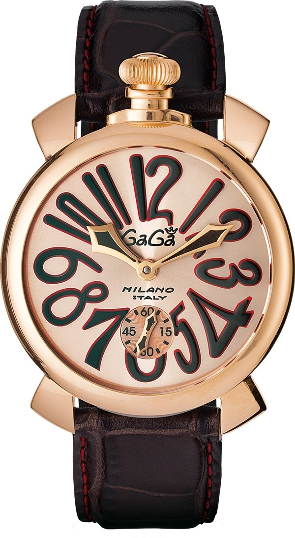 GaGà Milano Mechanical Watch Manuale Rose 48MM Rose Gold Plated 5011.11S - Watches & Crystals