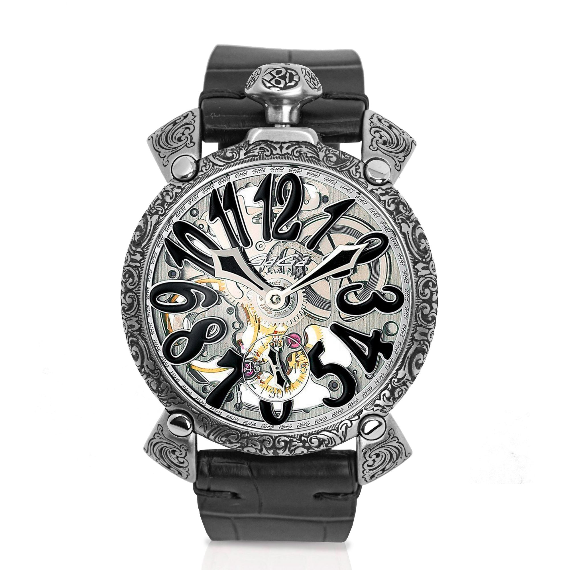 GaGà Milano Skeleton 48MM Black - Watches & Crystals