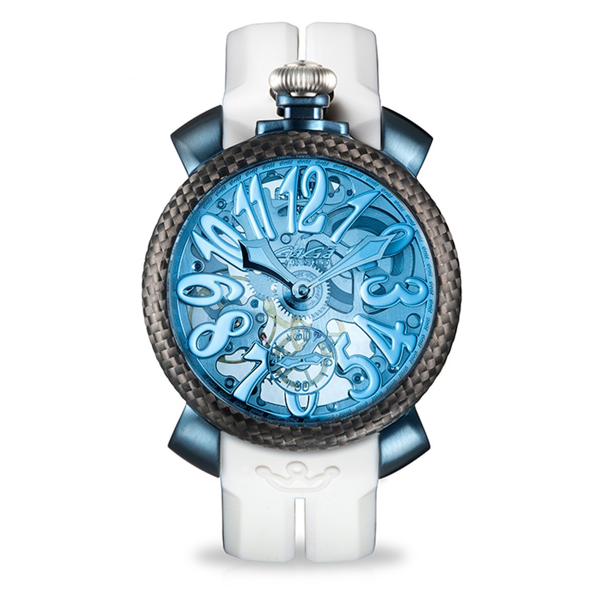 GaGà Milano Skeleton 48MM Blue PVD - Watches & Crystals