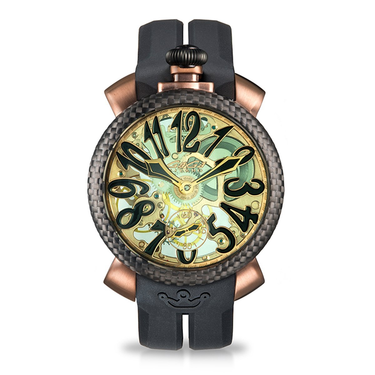 GaGà Milano Skeleton 48MM Coffee PVD - Watches & Crystals