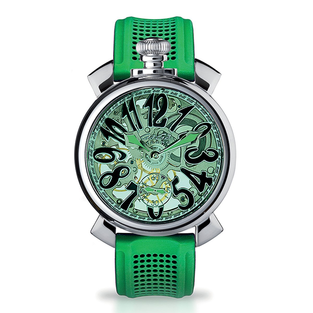 GaGà Milano Skeleton 48MM Green - Watches & Crystals