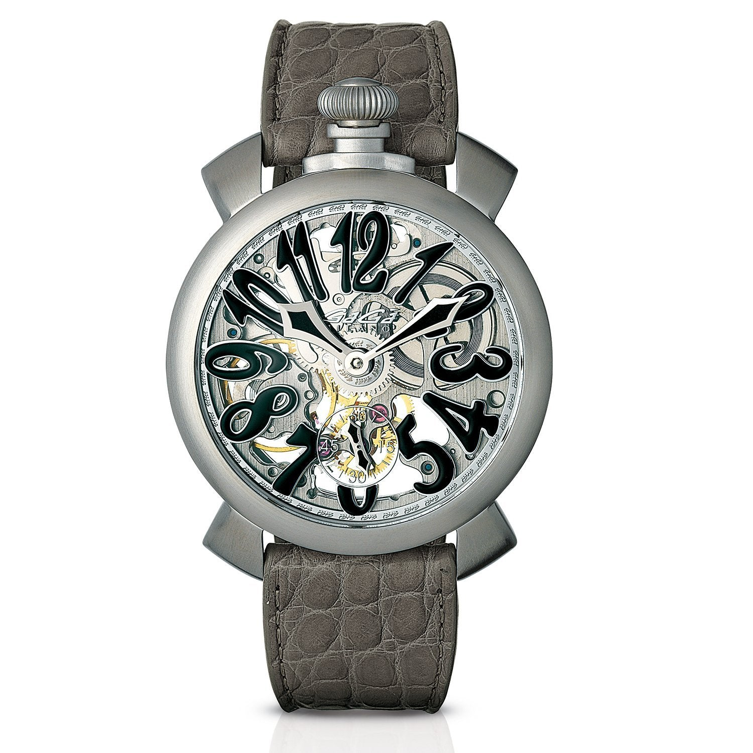 GaGà Milano Skeleton 48MM Grey - Watches & Crystals