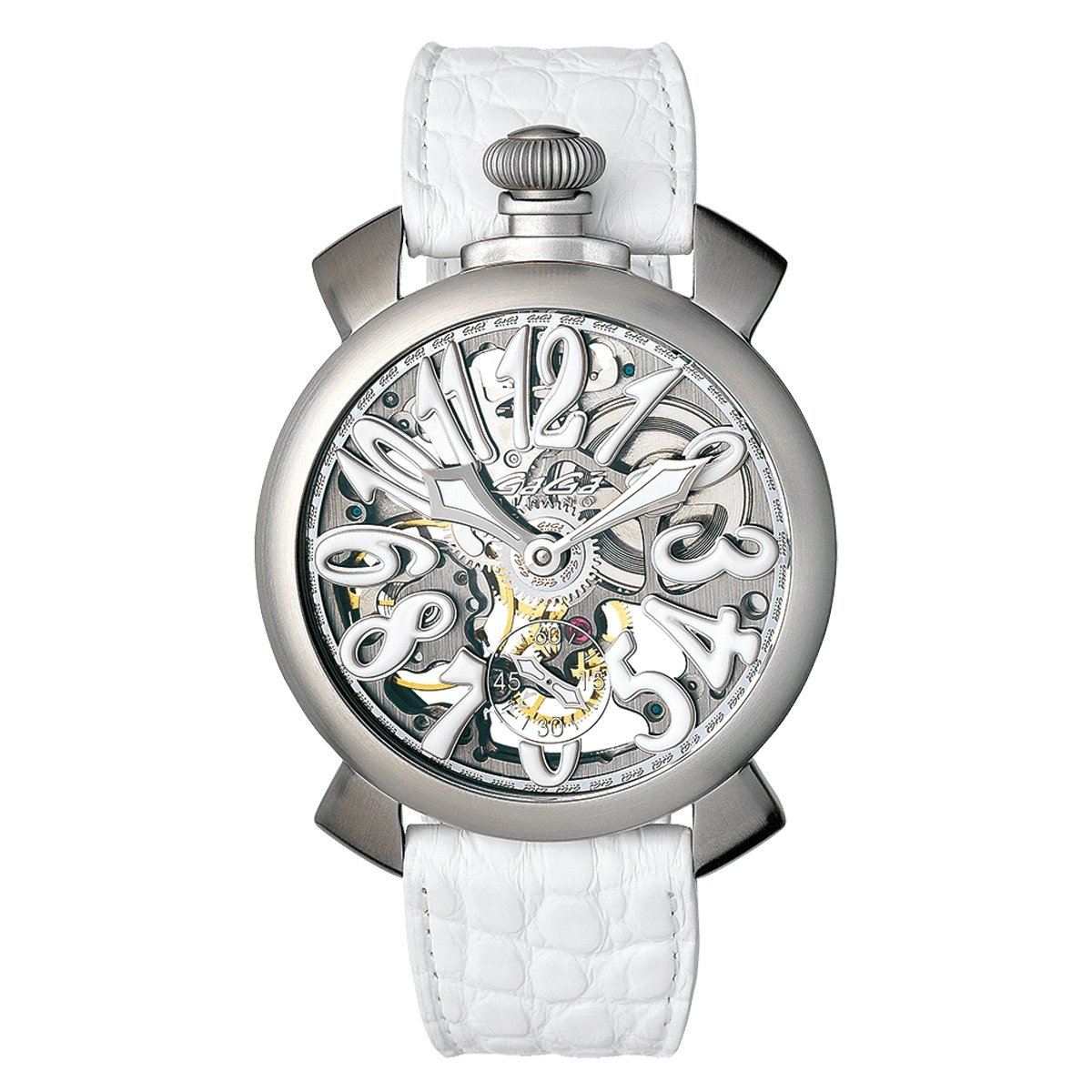 GaGà Milano Skeleton 48MM Satin - Watches & Crystals