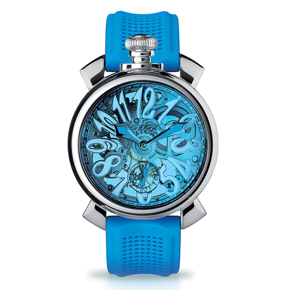 GaGà Milano Skeleton 48MM Sky Blue - Watches & Crystals