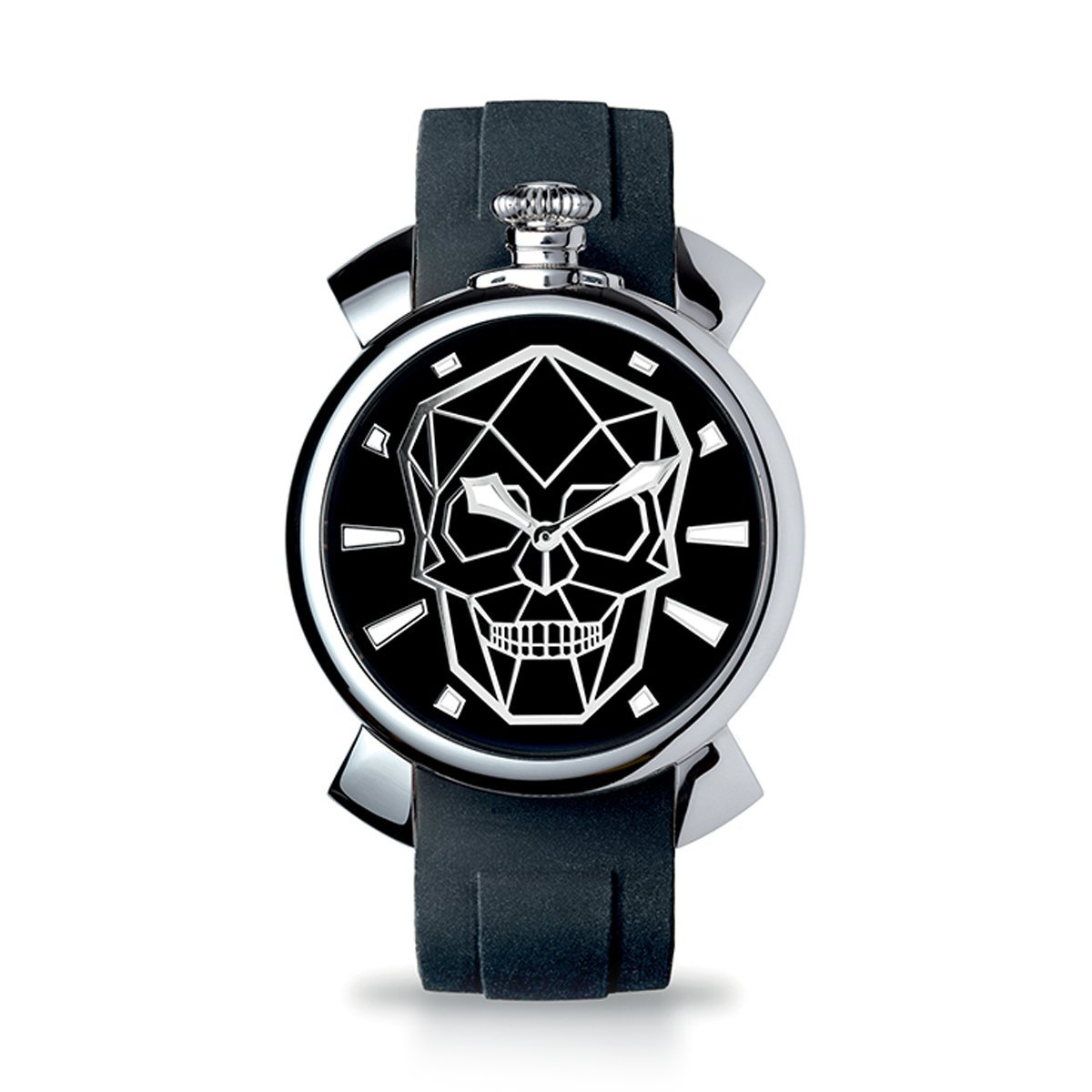 Gaga Milano Slim 46 Bionic Skull Black - Watches & Crystals