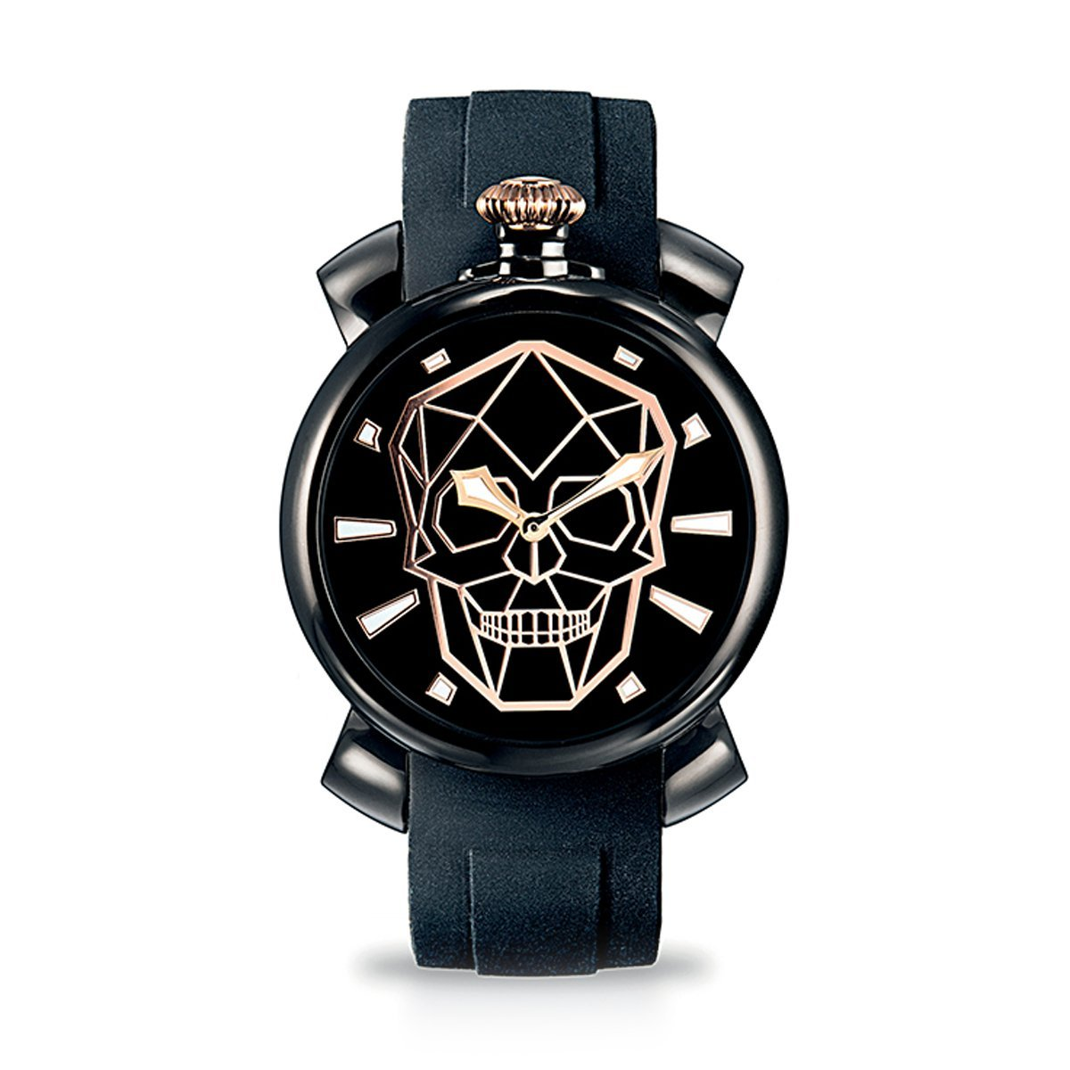 Gaga Milano Slim 46 Bionic Skull Black PVD - Watches & Crystals