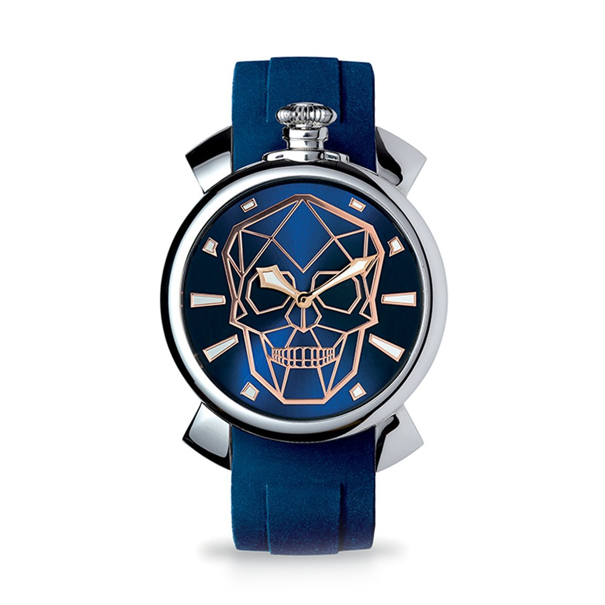 Gaga Milano Slim 46 Bionic Skull Blue - Watches & Crystals