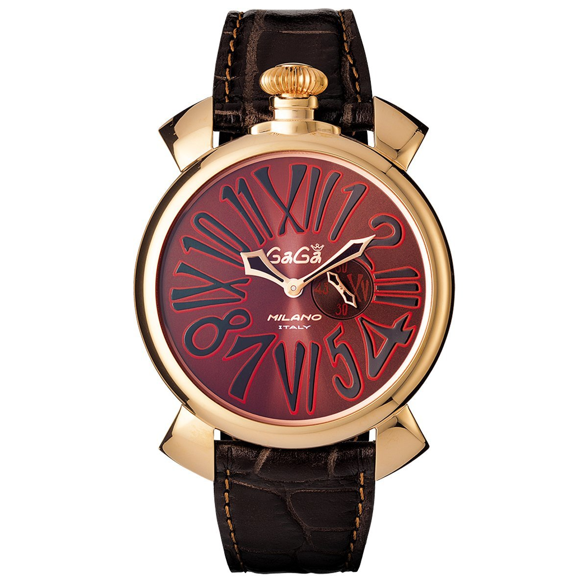 Gaga Milano Slim 46 Rose Gold Brown - Watches & Crystals