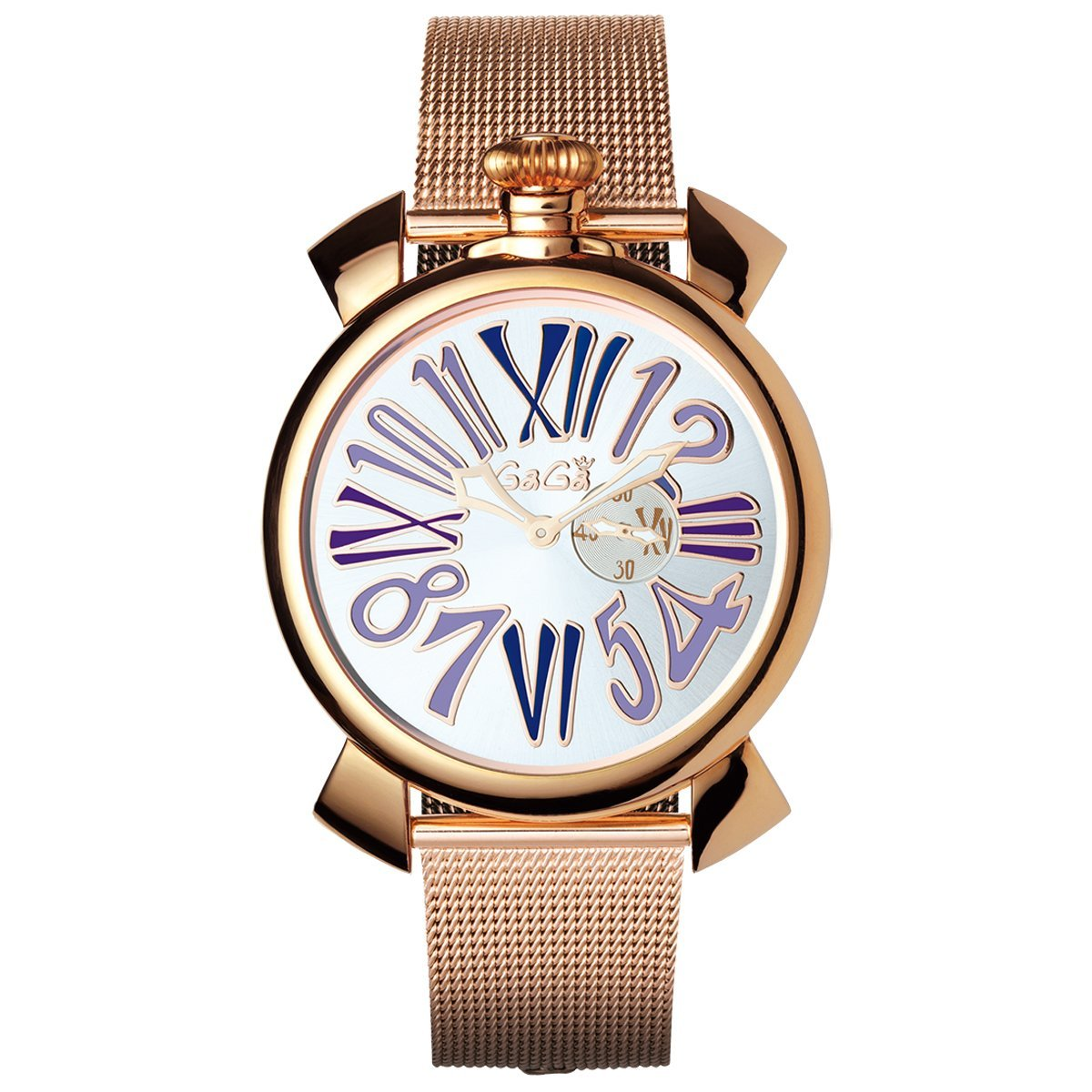 Gaga Milano Slim 46 Rose Gold Purple - Watches & Crystals