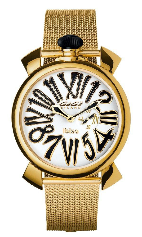 Gaga Milano Slim 46mm Unisex Watch Ibiza Yellow Gold - Watches & Crystals