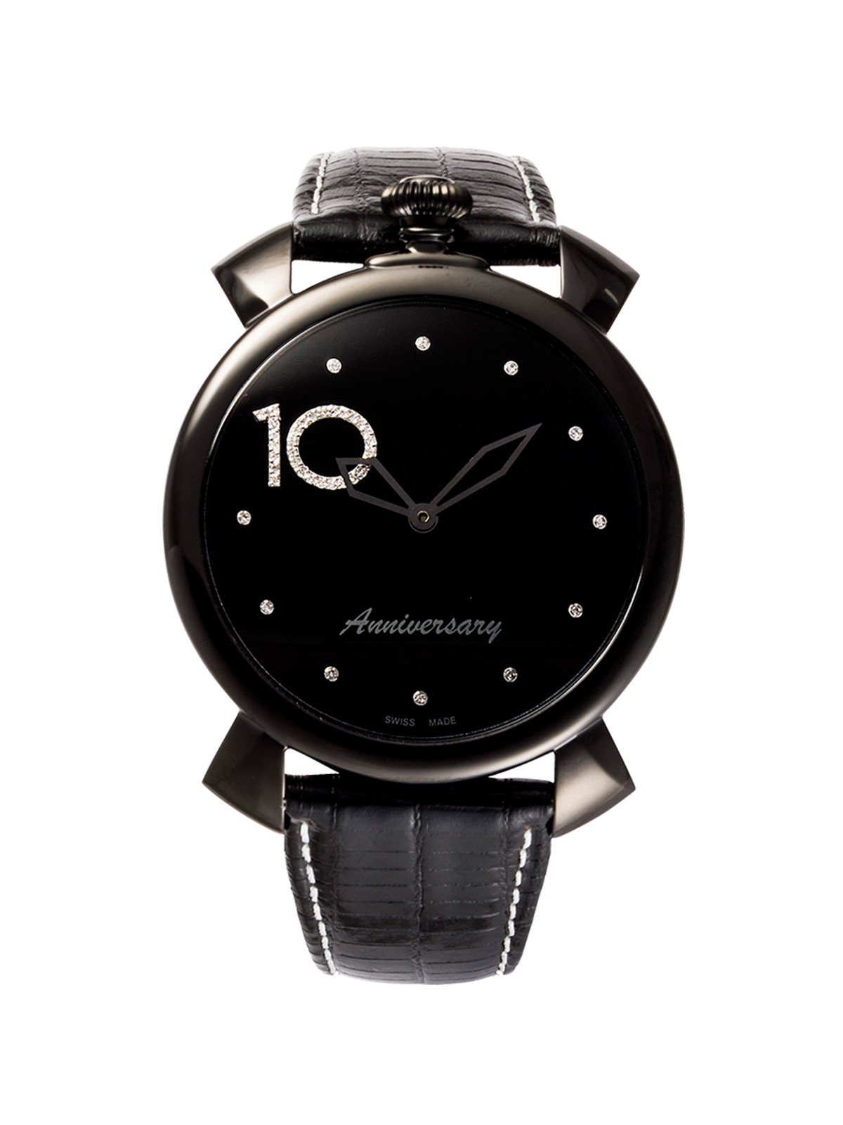 GaGà Milano Thin 46MM Black PVD Diamond Limited Edition - Watches & Crystals