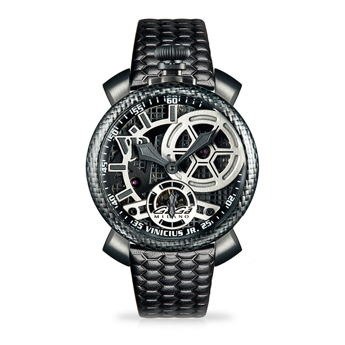Gaga Milano Vinicious Jr. Skeleton Steel Limited Edition - Watches & Crystals