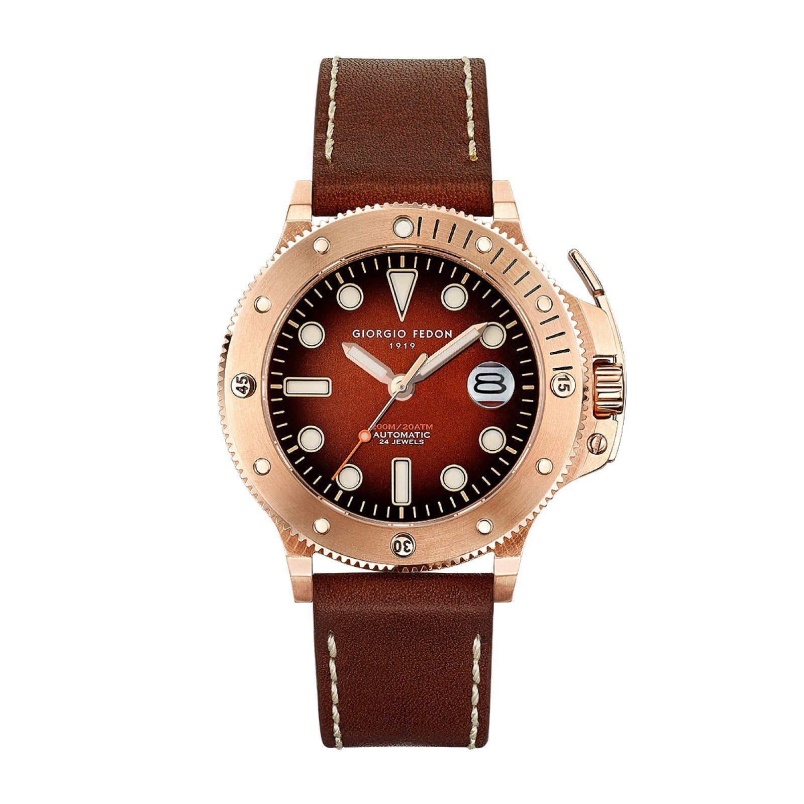 Giorgio Fedon Aquamarine IP Rose Gold - Watches & Crystals