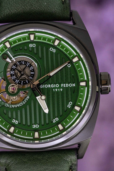 Giorgio Fedon Legend Green Black PVD - Watches & Crystals