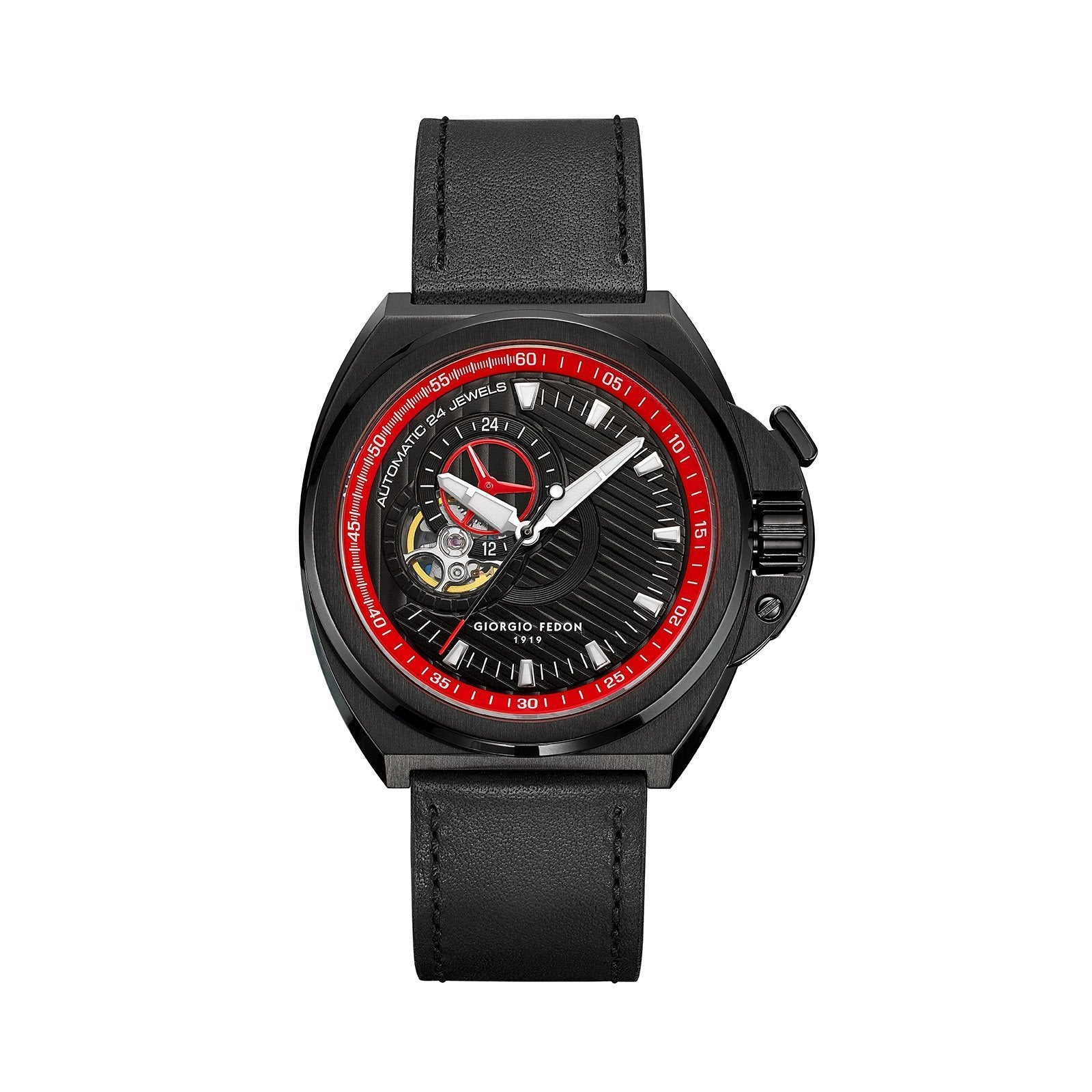 Giorgio Fedon Skywalker Red Black PVD - Watches & Crystals