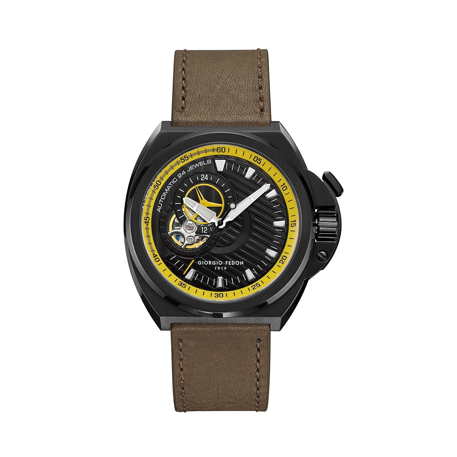 Giorgio Fedon Skywalker Yellow Black PVD - Watches & Crystals