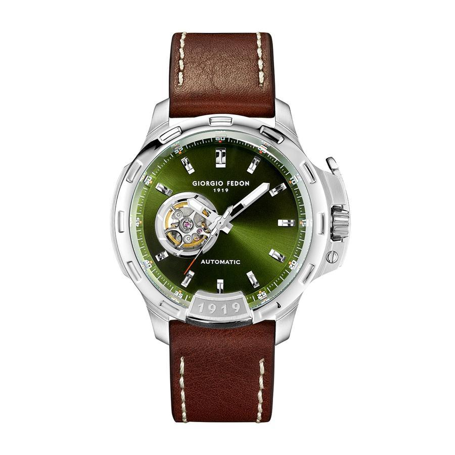 Giorgio Fedon Timeless IV Olive Green - Watches & Crystals