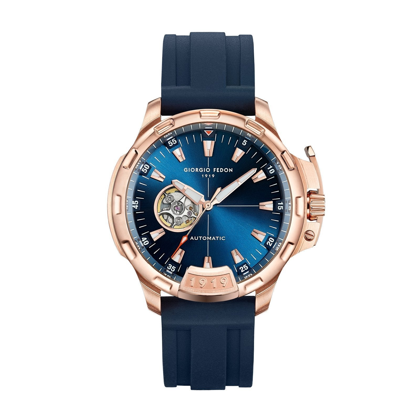 Giorgio Fedon Timeless IX IP Rose Gold - Watches & Crystals